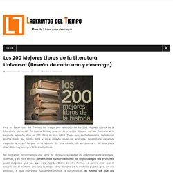 Los 200 Mejores Libros de la Literatura Universal (Reseña de cada uno y descarga) - Laberintos del Tiempo