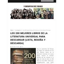 Los 200 Mejores Libros de la Literatura Universal para Descargar (Lista, Reseña y Descarga) - Laberintos del Tiempo
