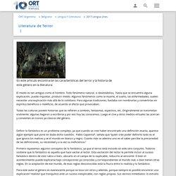 Literatura de Terror - ORT Argentina