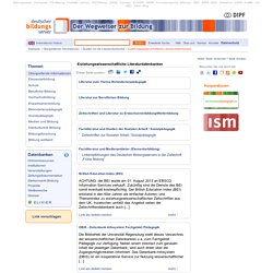 Erziehungswissenschaftliche Literaturdatenbanken