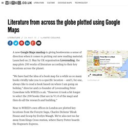 Literature from across the globe plotted using Google Maps