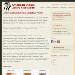American Indian Youth Literature Award – American Indian Library Association
