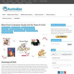 Mem Fox! A Literature Study Unit for Years F/1/2/3