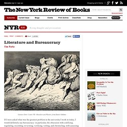 Literature and Bureaucracy by Tim Parks