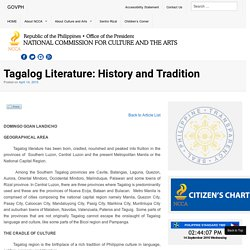 Tagalog Literature: History and Tradition - National Commission for Culture and the Arts