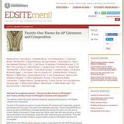Twenty-One Poems for AP Literature and Composition
