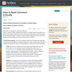 How to Read Literature Critically - Information, Facts, and Links