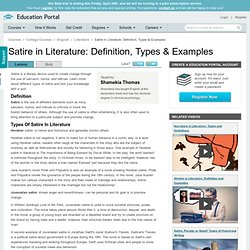 Satire in Literature: Definition, Types & Examples