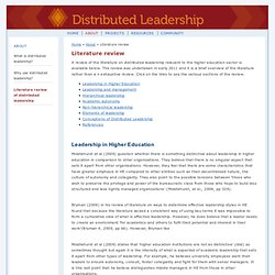 ALTC: Distributed Leadership