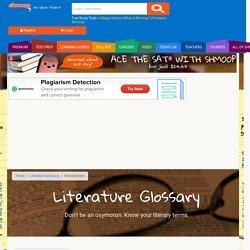 Literature Glossary