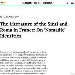 The Literature of the Sinti and Roma in France: On 'Nomadic' Identities - RomArchive