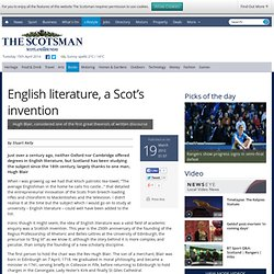 English literature, a Scot's invention