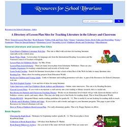 Literature Lesson Plans