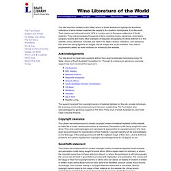 Wine Literature of the World :: State Library of South Australia