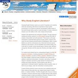 Department of English Literature and Linguistics