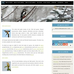 Online European bird guide literature ornithology, Europe