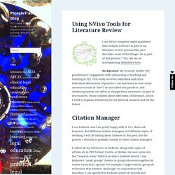 Using NVivo Tools for Literature Review