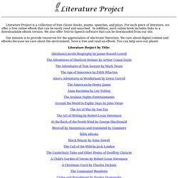Literature Project - Free eBooks Online