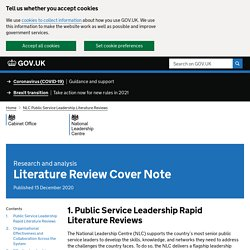 Brève - Literature Review Cover Note