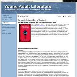 Young Adult Literature Reviews - Persepolis