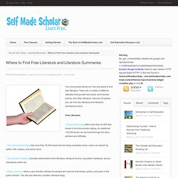 Where to Find Free Literature and Literature Summaries