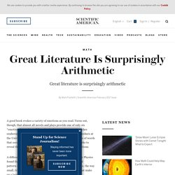 Great Literature Is Surprisingly Arithmetic