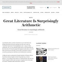 Great Literature Is Surprisingly Arithmetic