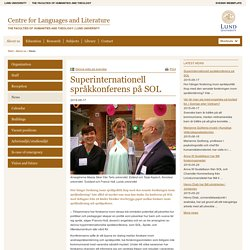 Centre for Languages and Literature, Lund University