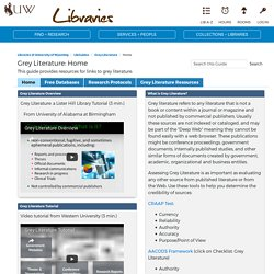 Home - Grey Literature - LibGuides at University of Wyoming