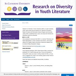 Research on Diversity in Youth Literature