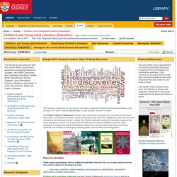 Discovery - EDSE4027 - Children's and Young Adult Literature (Education) - Guides at University of Sydney