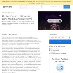 Online Games: Literature, New Media, and Narrative