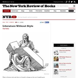 Literature Without Style by Tim Parks
