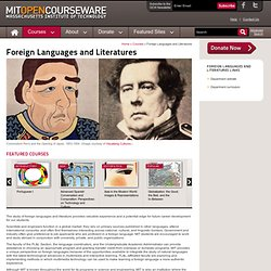 Free Online Course Materials | Foreign Languages and Literatures | MIT OpenCourseWare