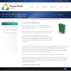 Avantages du Lithium-Ion - PowerTech Systems