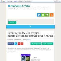 Lithium : un lecteur d'epubs minimaliste mais efficace pour Android