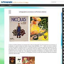 Lithographies anciennes et affichistes célebres