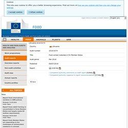 DG SANCO 06/07/18 Rapport OAV : Lithuania 2018-6374 Food contact materials in EU Member States Mar 2018 Report details
