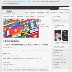 Lithuania - Language, Culture, Customs and Etiquette