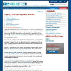 Litigation How to File a FOIA Request