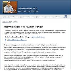 """Dr. Mel Litman"", M.D. ""Orthomolecular Medicine"""