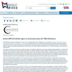 Litmos LMS de Callidus signe un accord pour plus de 1000 utilisateurs