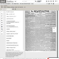 L'Aurore : littéraire, artistique, sociale / dir. Ernest Vaughan ; réd. Georges Clemenceau