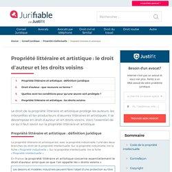 Propriété littéraire et artistique : définition juridique
