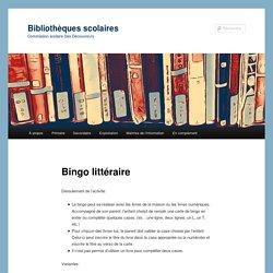 Bingo littéraire - Bibliothèques scolairesBibliothèques scolaires