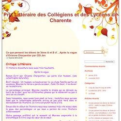 Prix Littéraire des Collégiens et des Lycéens de Charente