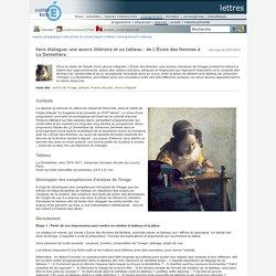 faire dialoguer une œuvre littéraire et un tableau : de L'École des femmes à La Dentellière