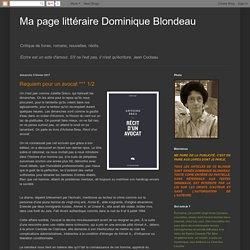 Récit d'un avocat (Ma page littéraire Dominique Blondeau)