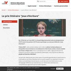 """Le prix littéraire """"Jeux d'écriture"""""""