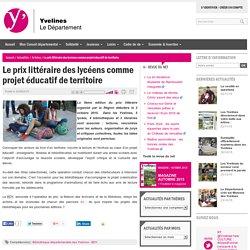 Le prix littéraire des lycéens comme projet éducatif de territoire